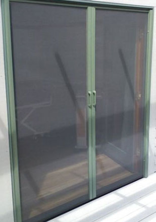 Retractable solutions doors gallery phantom screens for Phantom door screens prices